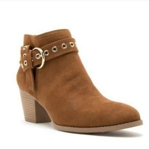 Shoes - Chesnut Suede Booties Brand New